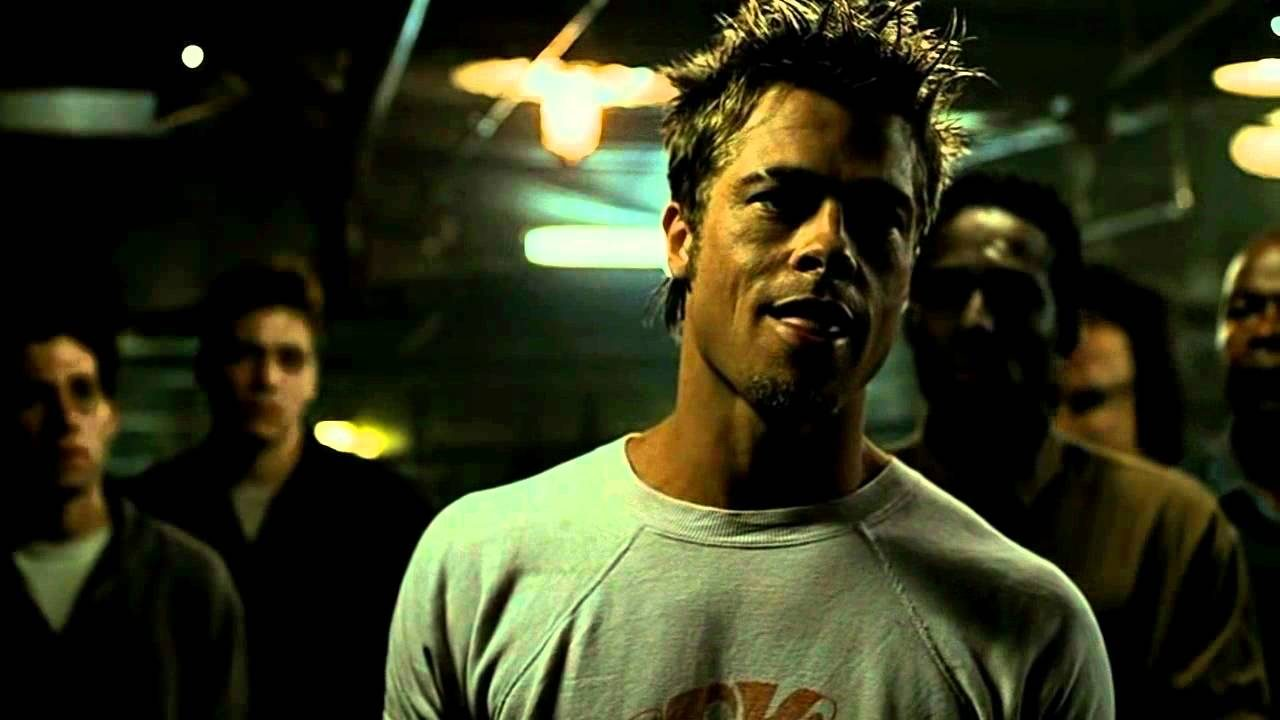 Tyler Durden dans la cave du Fight Club